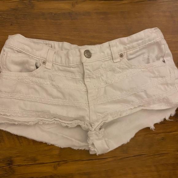 White garage shorts